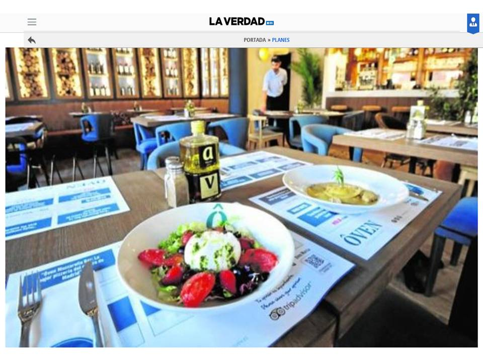 la-verdad. Los suculentos platos de Ôven Murcia.