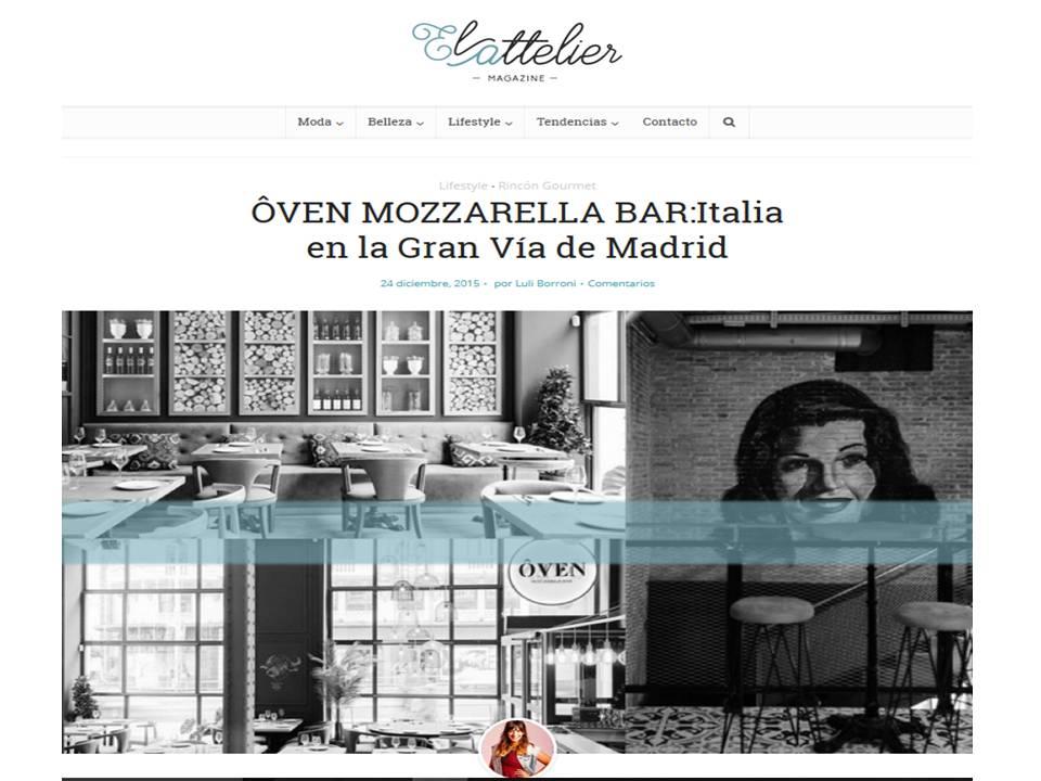 Cocina italiana tradicional en Madrid
